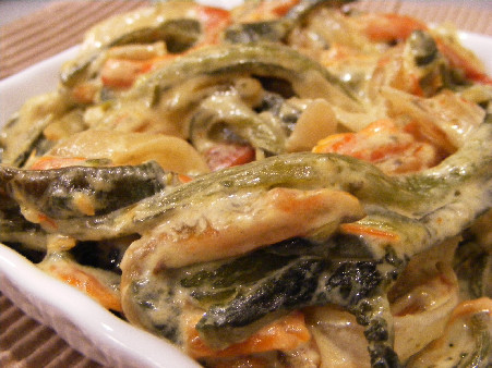 Green Chile: Roasted Chile In Cream – Rajas Con Crema | Fork Fingers ...