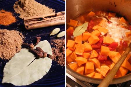 Jamaican Curry Spices _ Simmering Sweet Potatoes _ ForkFingersChopsticks