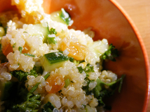 Golden Sunshine Quinoa Salad - Parsley Quinoa - Summer