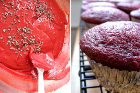 Red Velvet Cupcakes with Cacao Nibs