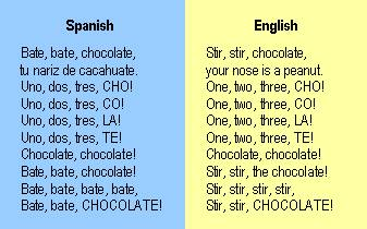 Spanish Children's Rhyme - Chocolate