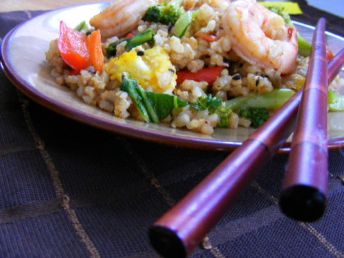 Brown Fried Rice - ForkFingersChopsticks.com