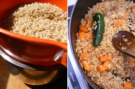 Brown Rice - Drain Browning - ForkfingersChopsticks