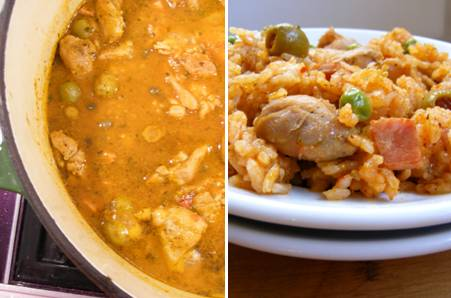 Arroz con Pollo - Rice with Chicken - ForkFingersChopsticks.com