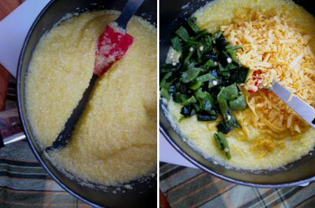 Grits Cooked - Green Chile and Cheese - ForkFingersChopsticks