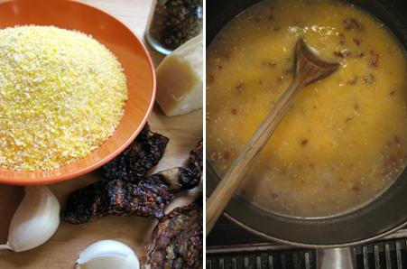 Home-made Polenta - Ingredients - Uncooked