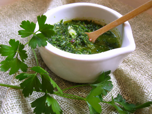 Chimichurri_Parsley Sauce Argentina - ForkFingersChopsticks.com