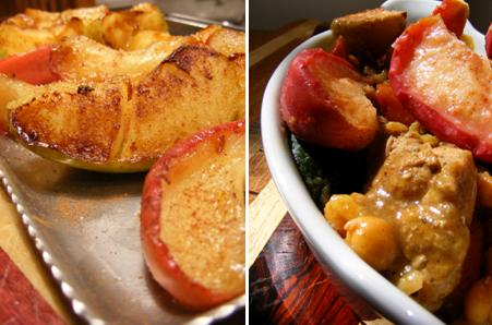 Sauteed Apples - Chicken Apple Moroccan Tagine Stew