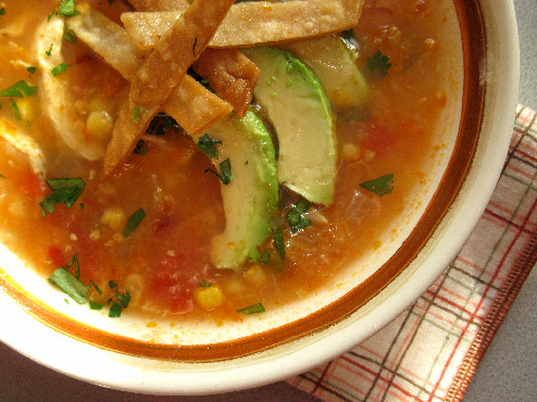 Easy Tortilla Soup Caldo Maiz Avocado