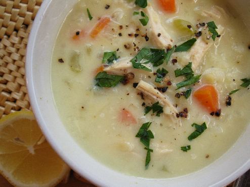 Chicken Soup: Greek Lemon Chicken Soup – Avgolemono
