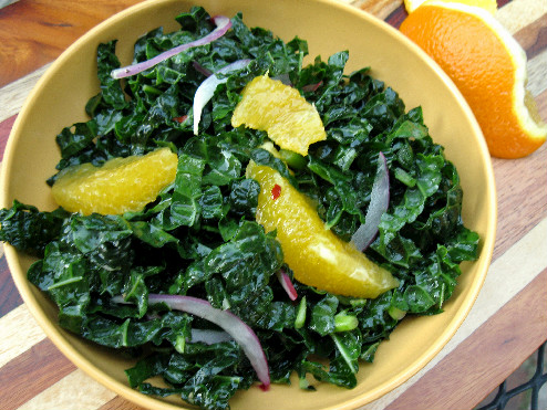 citrus kale salad, Brazilian Greens, easy kale salad